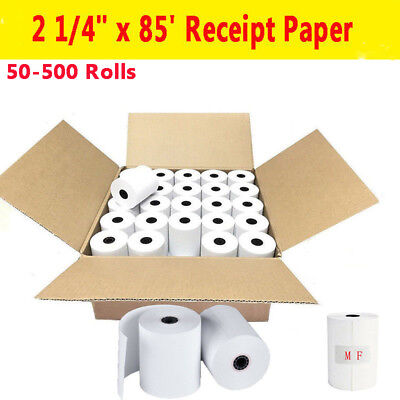 50-500 Rolls 2 14 X 85 Thermal Cash Register Credit Card Pos Receipt Paper Us
