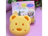 JOBLOT X70 TEDDY BEAR SHAPED SANDWICH TOAST CUTTER