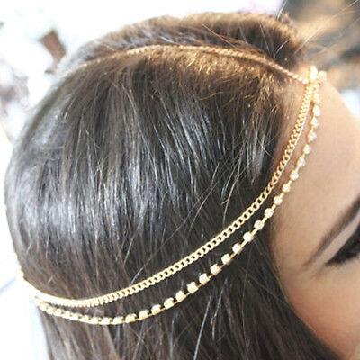 NEW Bohemian Silver/Gold Head Chain Jewelry Forehead Headband Piece Hair Gift](Head Chain Jewelry)