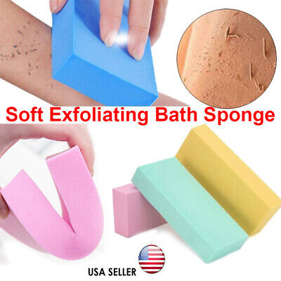 For Adult Kids Exfoliating Body Skin Bath Shower Spa Brush Washing Sponge Pad -