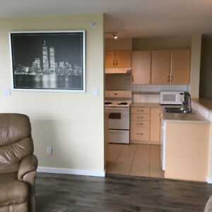 huge 2 bed 2 washroom + den apartment furnished