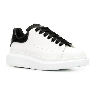 Alexander McQueen Men's White Leather Oversized Sneaker EU 43/US 10 552064 9074