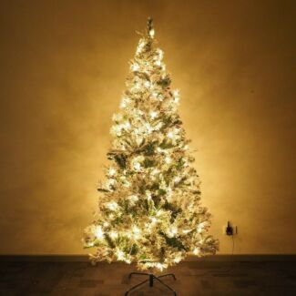 LED with snow flocked Christmas tree   180cm/210cm