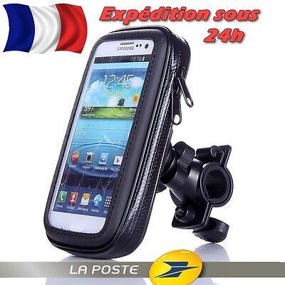 HOUSSE Étanche & Tactile + SUPPORT Téléphone GPS Moto Vélo Scooter S M L XL