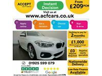2015 WHITE BMW 116D 1.5 M SPORT DIESEL MANUAL 5DR HATCH CAR FINANCE FR £209 PCM