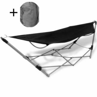 Portable Folding Camp Garden Hammock With Pillow Hanging Bed Slep