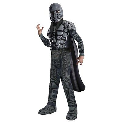 Boys DELUXE GENERAL ZOD Muscle Costume Jumpsuit w/ Cape Mask Child Small 4 5 6 ()