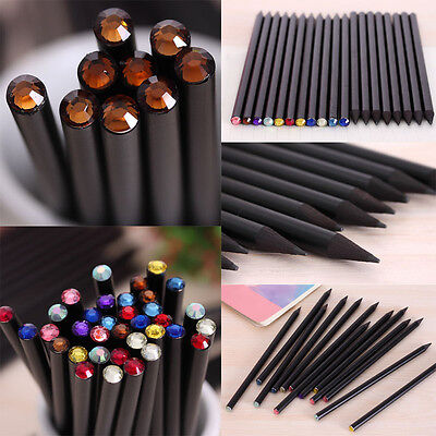 Rhinestone Pencil Stationery Pen Student School Office Supplies Kids (Kids Stationery)