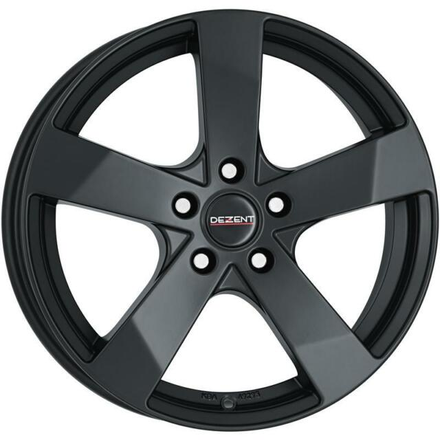 "16"" DEZENT TD DARK MATT BLACK ALLOY WHEELS ONLY BRAND NEW 5x114.3 RIMS"