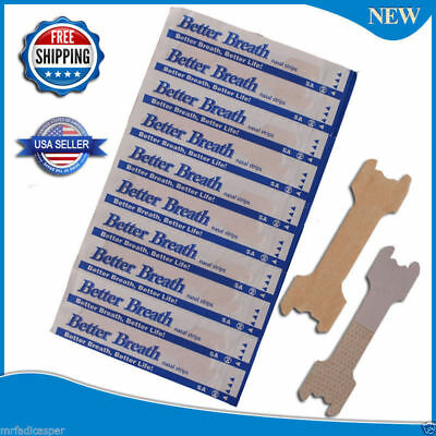 125 (100+25) NASAL STRIPS  (LARGE/TAN) Better Breath / Reduce Snoring Right