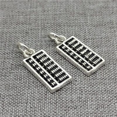 5pcs of 925 Sterling Silver Abacus Charm Counting Frame
