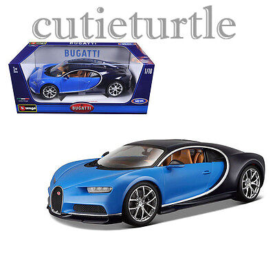 Bburago 2016 Bugatti Chiron 1 18 Diecast Model Car 18 11040 Blue Black