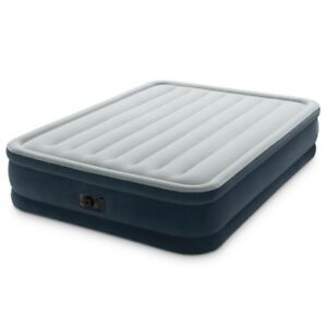 Queen Size Elevated Comfort Airbed, Built-In Electric Pump - new