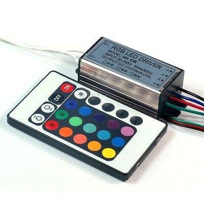 9w 10w High Power Rgb Led Driver Ac90-265v 5060hz W 24-key Infrared Controller