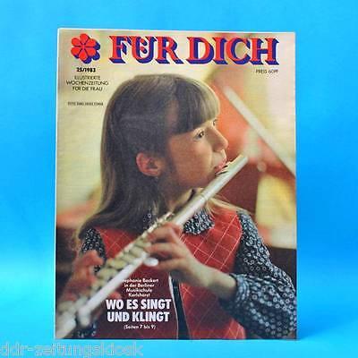DDR FÜR DICH 25/1983 Kruge Bad Freienwalde Rosenberg Musikschule Karlshorst