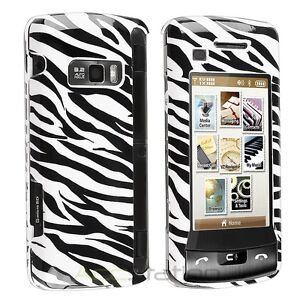 FOR LG enV Touch VX11000 COVER BLACK WHITE ZEBRA PHONE RUBBER HARD SKIN CASE