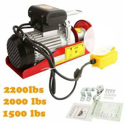150020002200 Lbs Electric Wire Hoist Winch Lifting Hanging Engine Crane Lift