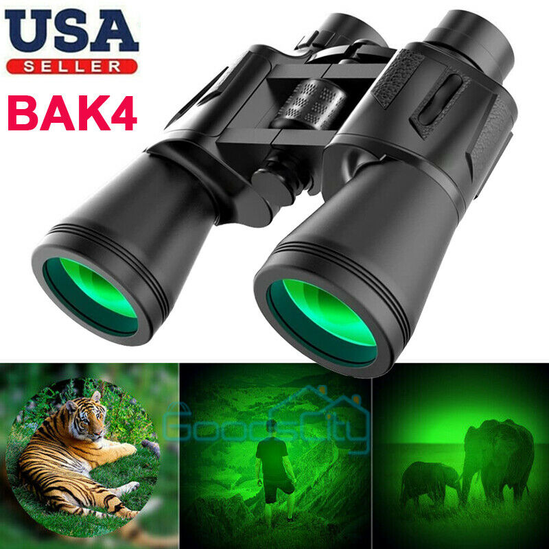 100X180 Binoculars With Day Night Vision BAK4 Prism High Power Waterproof + Case