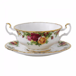 Royal Albert Old Country Roses Cream Soup Cup & Saucer Set