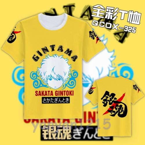 New Anime GINTAMA Sakata Gintoki Full color Tee Casual Top T-Shirt M,L,XL,XXL