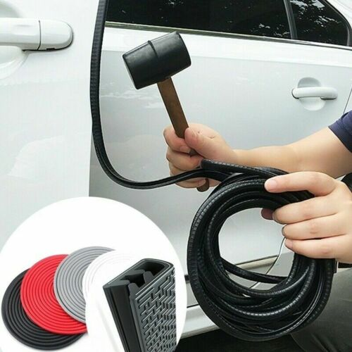 Car Parts - 5M Car Door Boot Edge Protector Strip Trim U Shape Guard Seal Rubber Black UK