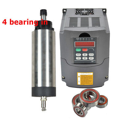 Cnc Air Cooled 2.2kw Spindle Motor Er20 2.2kw Inverter Drive Vfd Four Bearing