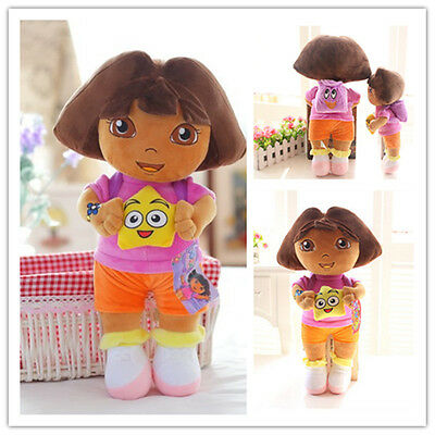 HOT DORA THE EXPLORER Kids Girls Soft Cuddly Stuffed Plush Toy Doll Gifts 13""