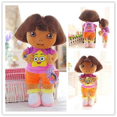 "New DORA THE EXPLORER Kids Girls Soft Cuddly Stuffed Plush Toy Doll Gifts 13"""
