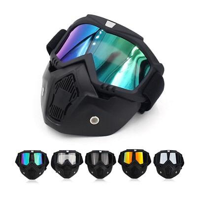 Schutzbrille Motorrad Offroad Racing Gesichtsmaske Mask Abnehmbare Brillen Helm