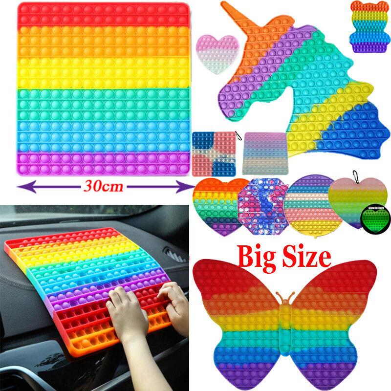 20/40/30cm Large Pop Fidget it JUMBO Button Bubble It Square Fidget Toy US