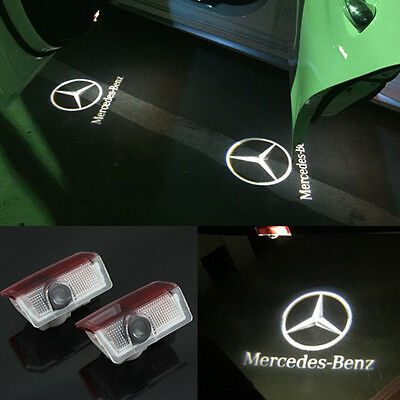 4x LED Door Courtesy Light Projector Logo Shadow For Mercedes-Benz C-Class W204
