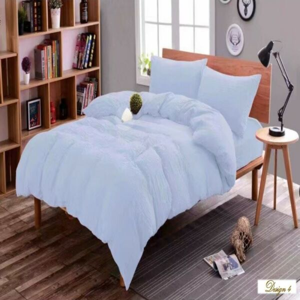 SINGLE bed Light Light Blue Fitted BedSheet + Pillowcase Set ALSO MANY BEAUTIFUL COLOURS AVAILABLE!