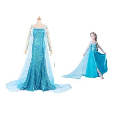en Princess Fancy Dress Queen Costume  (Kids Frozen Kostüm)