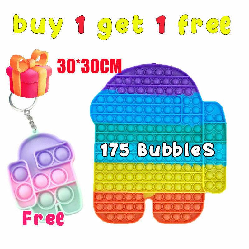 30cm Jumbo Popit Sensory Fidget Toys Big Size Push Bubble Autism Stress Relief