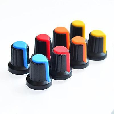 New Hot 10pcs Face Plastic For Rotary Taper Potentiometer Hole 6mm Knob Hi
