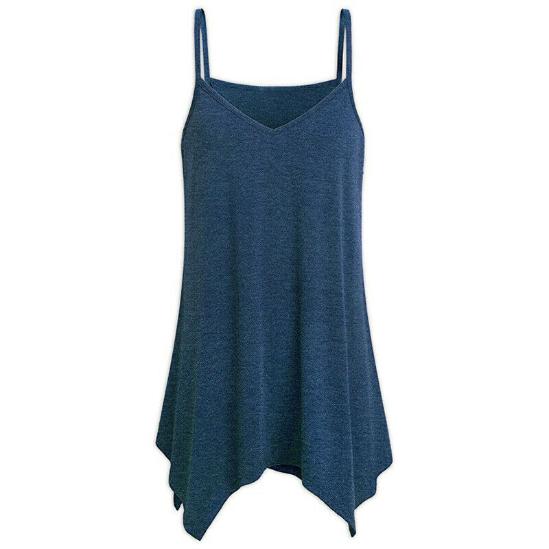 Women Cami Tank Spaghetti Strap Top Beach Party Casual Vest Summer Tunic Blouse Clothing, Shoes & Accessories