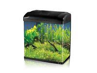 34L Aquarium Fish GlassTank Fresh Water LED Light Filter Black Super value!