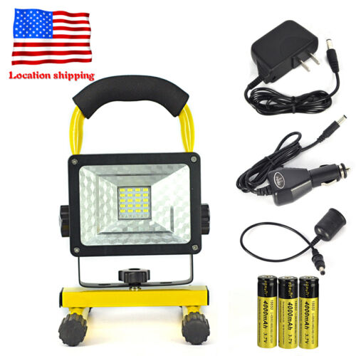 Portable Cordless Rechargeable Led Work Light Work Lamp W: Cordless Outdoor 30W Portable 24 LED Rechargeable Flood
