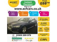 2017 BLUE AUDI A4 2.0 TDI 190 S LINE DIESEL AUTO SALOON CAR FINANCE FR £88 PW