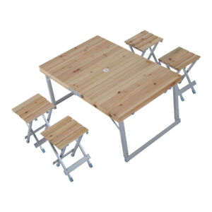 5-Piece Folding Outdoor Table Set