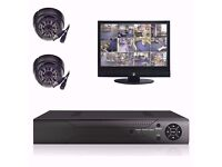 CCTV SYSTEM-COMPLETE WITH DVR AND 2 NIGHT VISION CAMERAS
