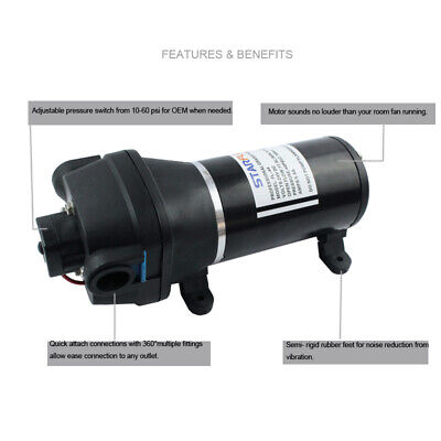 24v 40psi 17lp Starflo Fl-44 Water Pump Small Electric Diaphragm