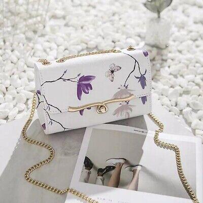 New Women Floral Shoulder Bag Wedding Bridal Party Chain Messenger Handbag Bags