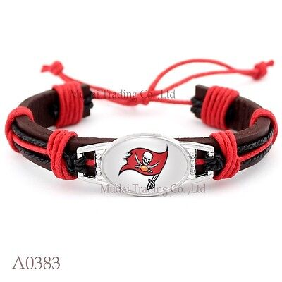 Tampa Bay Buccaneers Bracelet Tribal Leather Quality Fast Ship USA Seller (Tampa Bay Buccaneers Bracelets)