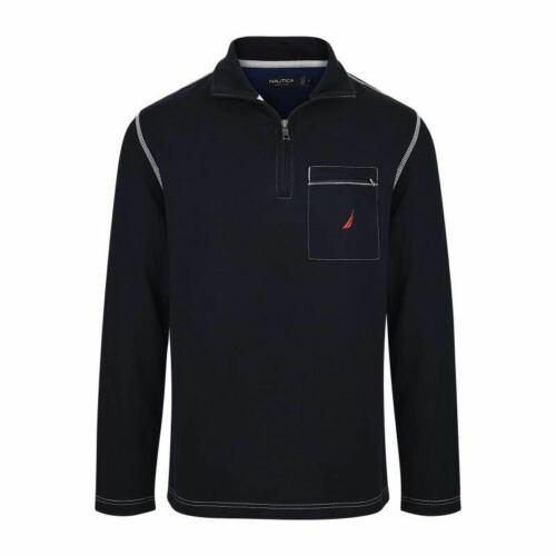 Mens Polo Nautica Long Sleeve 1/2 Zip Up Classic Original 100% Cotton NEW .
