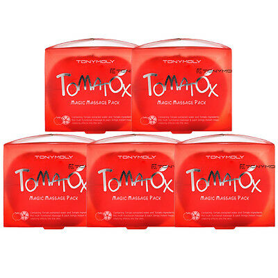 [TONYMOLY] Tomatox Magic Massage pack 80g * 5pcs  for clear skin