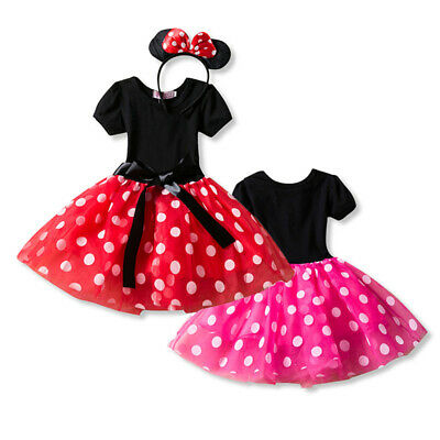 Minnie Mouse Costume Baby Girl Tutu Dress Princess Dress Up Birhthday Halloween