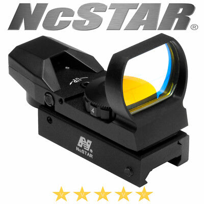 Ncstar Red Dot Reflex Sight Optic 4 Reticle Weaver Picatinny Base Black Aluminum