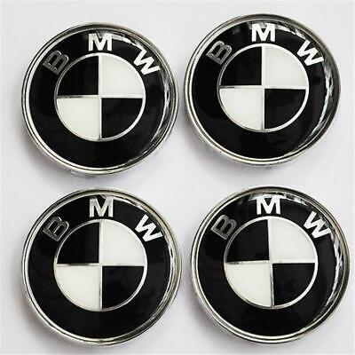 4x for BMW E39 E46 E60 Wheel Center Cap Emblem Cover Logo Badge 68MM 36136783536