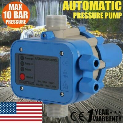 110v Automatic Water Pump Pressure Controller Electric Switch Control Garden